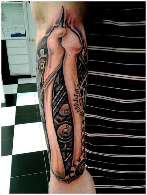 biomechanical tattoo knee 35 bio mechanical tattoo designs