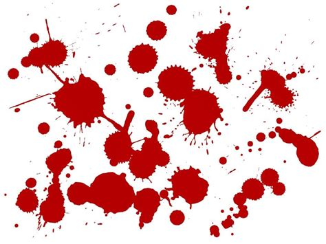 Blood Splatter Brush | 40 horrific blood photoshop brushes for designers