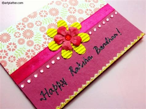 Handmade Greeting Cards For Raksha Bandhan - handmade rakhi cards and gifts for raksha bandhan world