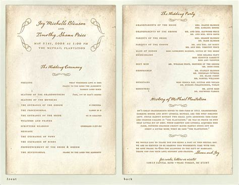 program ideas 30 wedding program design ideas to guide your guest