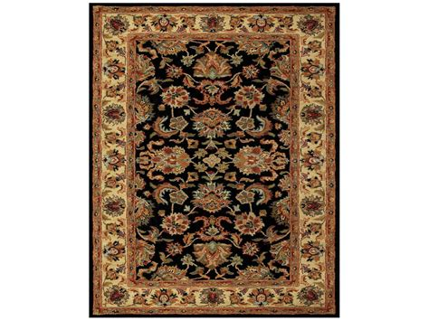 Feizy Area Rugs Feizy Yale Rectangular Black Gold Area Rug Fz8527f