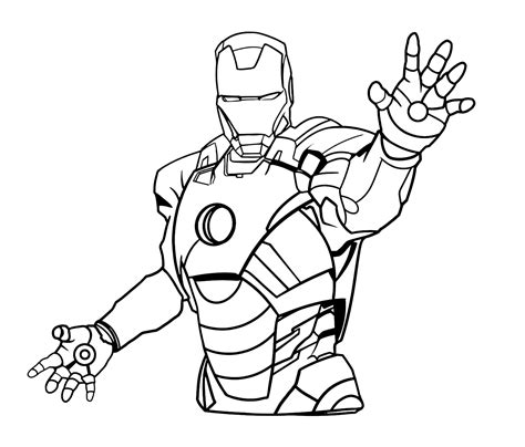 clipart da colorare ironman da colorare clipart best
