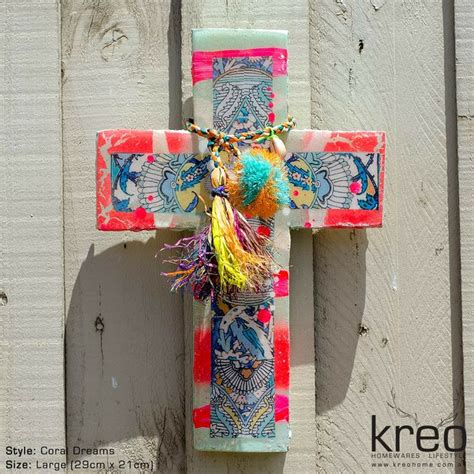 cross home decor ahoy trader cross coral dreams kreo home ahoy trader cross coral dreams kreo home products