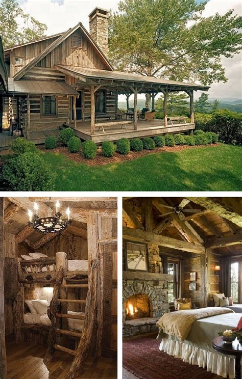 rustic log cabin rustic log cabin living diy cozy home