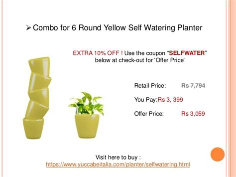 offer for self watering pots planters yuccabe italia