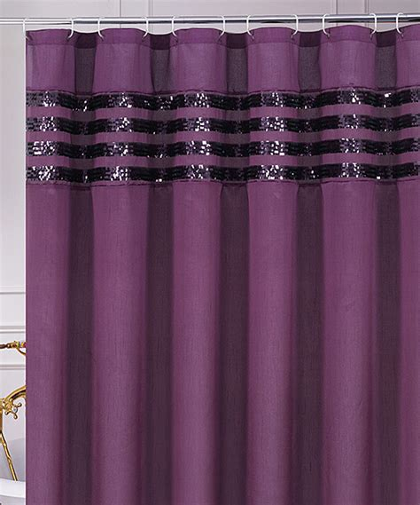 Purple Sequin Moline Shower Curtain Zulily