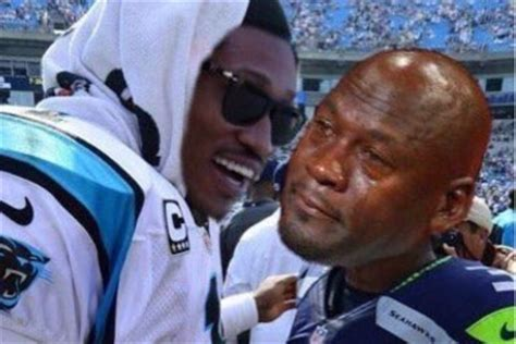 Russell Wilson Wife Meme - internet reacts to panthers seahawks game jabs russell