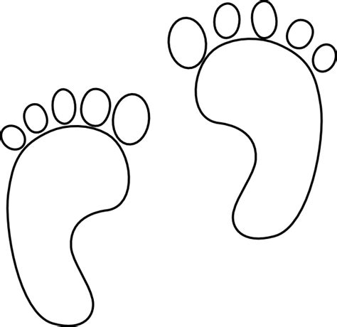 footprint template printable printable footprints clipart best