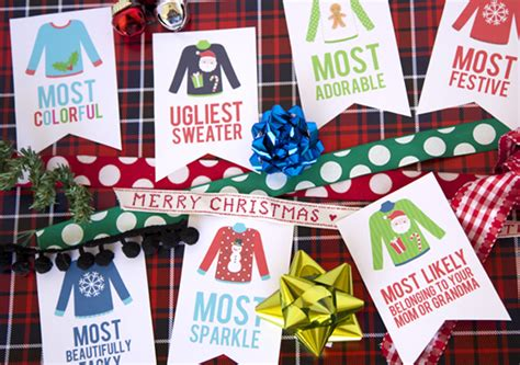 printable ugly christmas sweater awards ugly sweater christmas party awards eighteen25