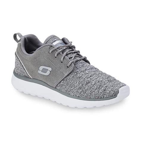 skechers s counterpart gray white running shoe