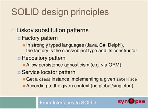 repository pattern service locator d1 from interfaces to solid