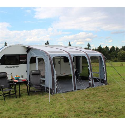 caravan awnings outlet outdoor revolution elise 390 l inflatable caravan awning
