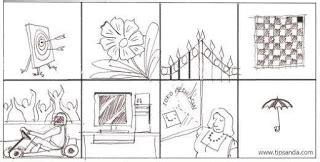 contoh gambar wartegg test tips lulus cara mengerjakan tes wartegg melengkapi
