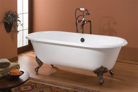 which is better cast iron or acrylic bathtubs strong clawfoot tubs design for modern bathroom design
