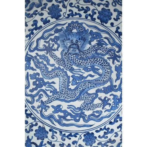 blue and white ceramic l chinese blue white porcelain dragon charger
