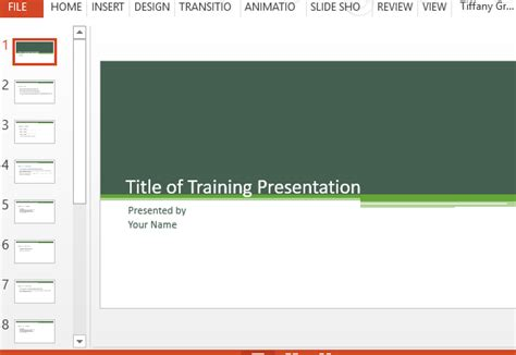 Training Presentation Template For Powerpoint Orientation Powerpoint Presentation Template