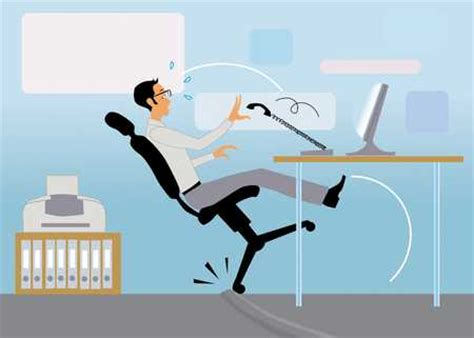Falling Out Of Chair by Stock Illustration Falling Back In Chair
