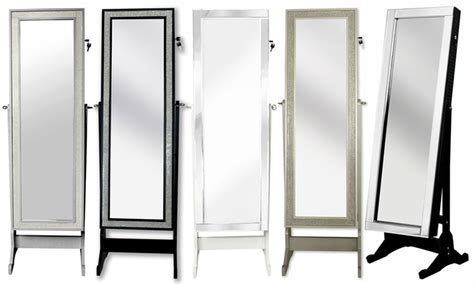 full length mirror armoire full length cheval mirror jewelry armoire groupon