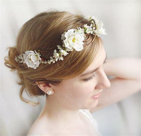 Headpiece Headpiece Pengantin 3 white flower crown white hairpiece bridal headpiece floral crown hair wedding