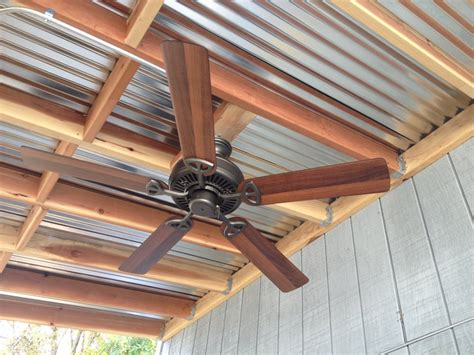 Patio Ceiling Panels by Outdoor Kitchen Galvanized Ceiling Panels With Ceiling