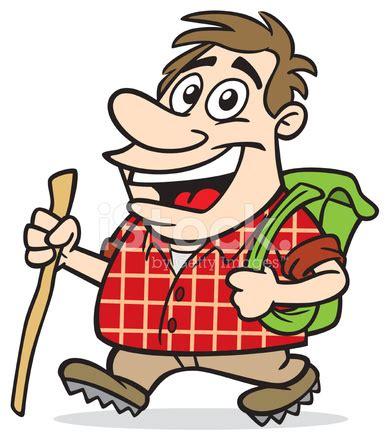 cartoon guy hiking stock vector freeimages.com