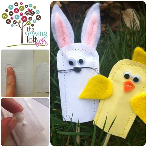 How To Make Puppets Out Of Paper - finger puppets are easy to make easter finger puppets