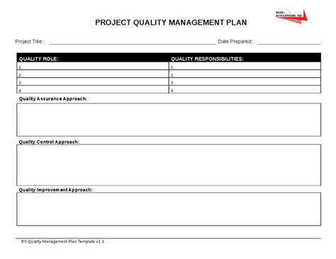 qi project template best photos of quality management plan template quality