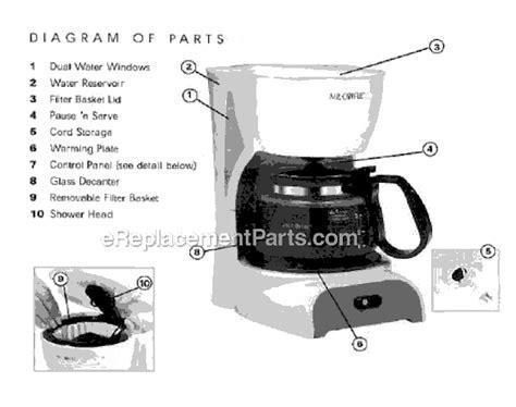 Mr. Coffee DR4 Parts List and Diagram : eReplacementParts.com