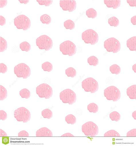 watercolor drawn pattern pink hand drawn watercolor polka dot seamless stock vector