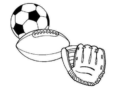 Sports Coloring Pages For Kindergarten | preschool sports coloring pages