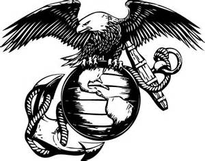 Marine Emblem Outline by Eagle Globe And Anchor Template Search Marine Pencarian Seni