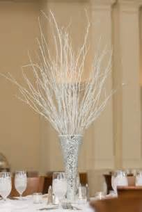 winter centerpieces and winter themed wedding table designs