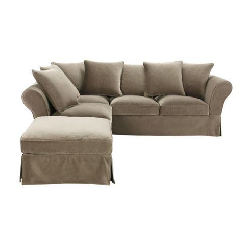 5 seat corner sofa in taupe velvet roma roma maisons