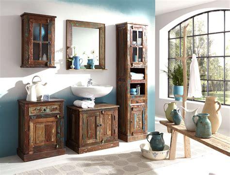 Badezimmer Unterschrank Bunt by Unterschrank 66x60x43 Cm Altholz Massiv Bunt Badezimmer