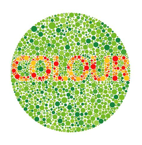 Color Blind America yellow green chart brown hairs