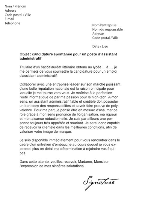 Exemple Lettre De Motivation Assistant Administrative 12 Lettre De Motivation Poste Administratif Exemple Lettres