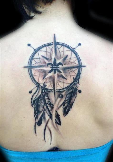 dreamcatcher compass tattoo neck dream catcher and compass by daniel adamczyk tattoonow