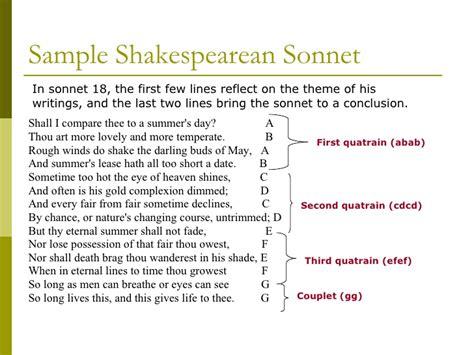 sonnet template sonnets