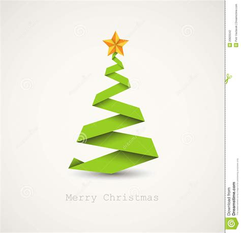 simple but beautiful christmas tree pictures simple tree made from paper stripe stock illustration image 20825542