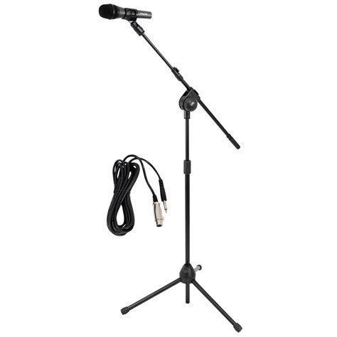 Tripod Mic new pyle pmksm20 microphone and tripod stand with