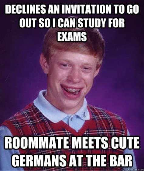Gay Roommate Meme - bad luck brian memes quickmeme