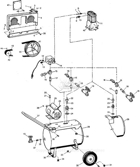 cbell hausfeld vt558501 parts diagram for air compressor parts