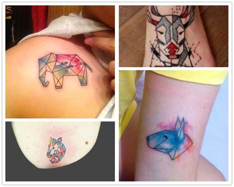 watercolor tattoos animals 2014 cool geometric animal watercolor design