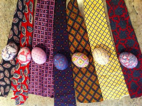tie dying easter eggs with silk ties easter
