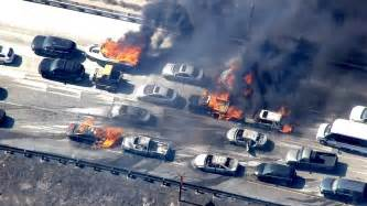 cars catch after california wildfire jumps freeway