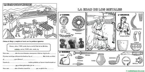 actividades para ni os de cuarto de primaria edad de los metales para ni 241 os de primaria web del maestro
