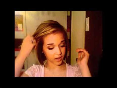 easy hairstyles for short hair youtube hair tutorial quick and easy hairstyles for short hair