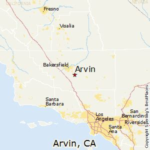 best places to live in arvin california