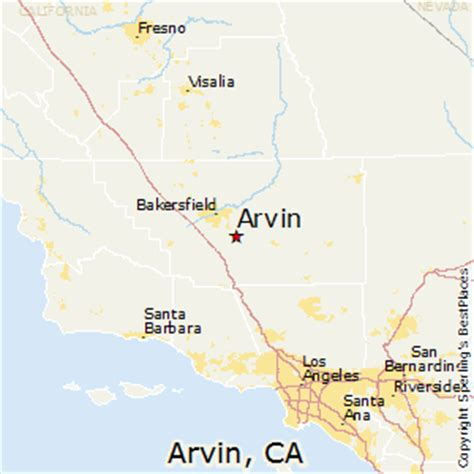 best places to live in arvin, california