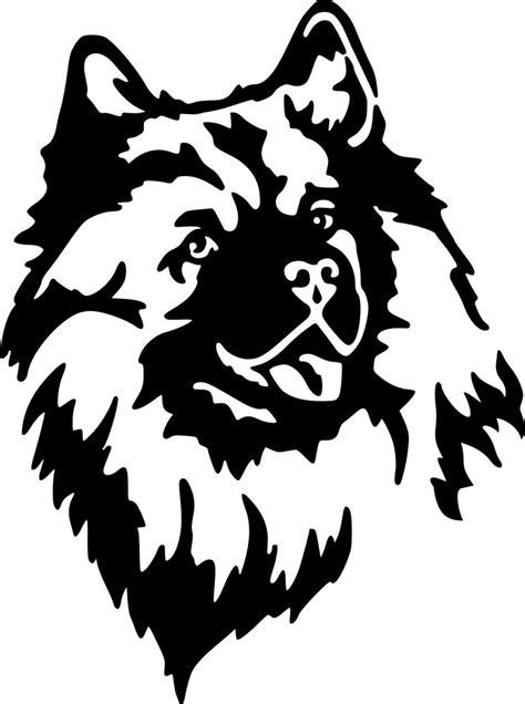 Wolfsspitz Aufkleber by Petfoodshop Wolfsspitz Kopf Sticker